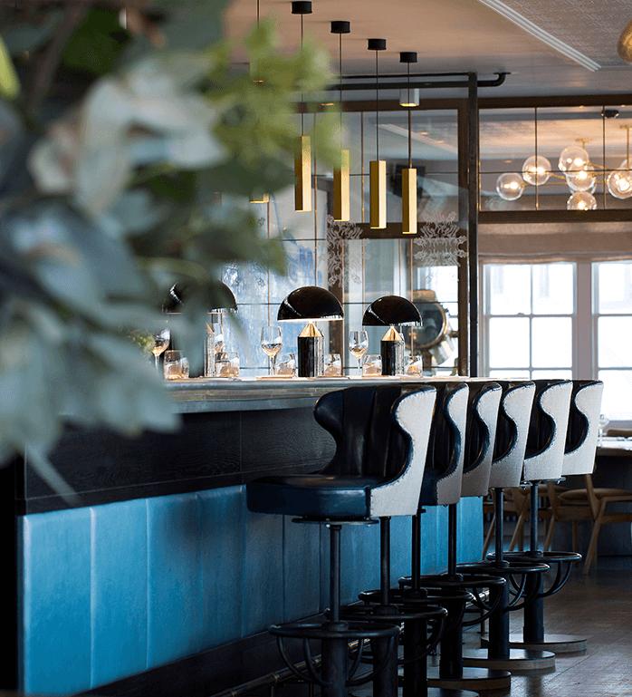 Restaurant interior at Swan at Shakespeare's Globe