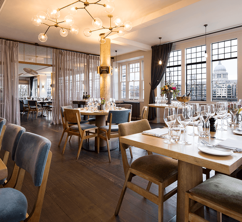 Private dining in the River Room